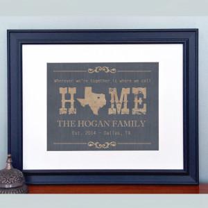 Texas Home State Print