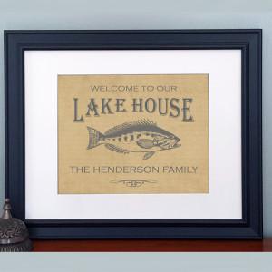 Slate lake house print