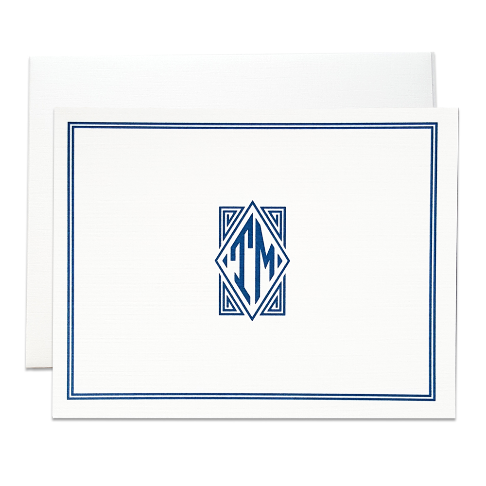 Monogram folded stationery
