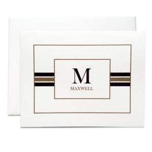 striped monogram note