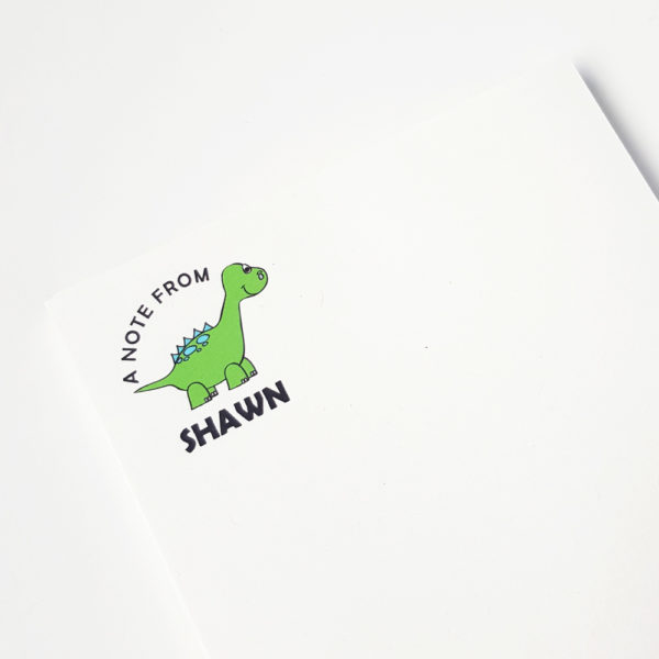 dinosaur notepad