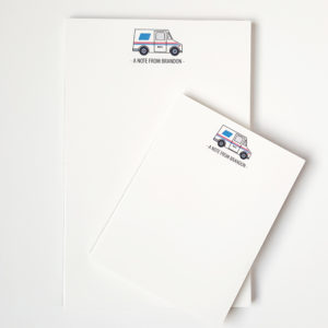 mail carrier notepad