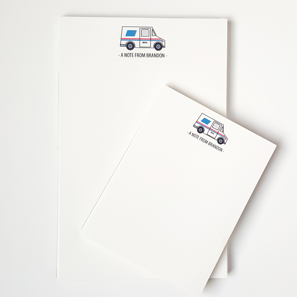 Personalized Stationery Mail Carrier Notepad