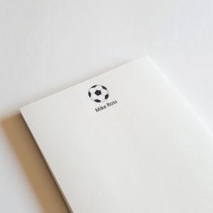 soccer notepad