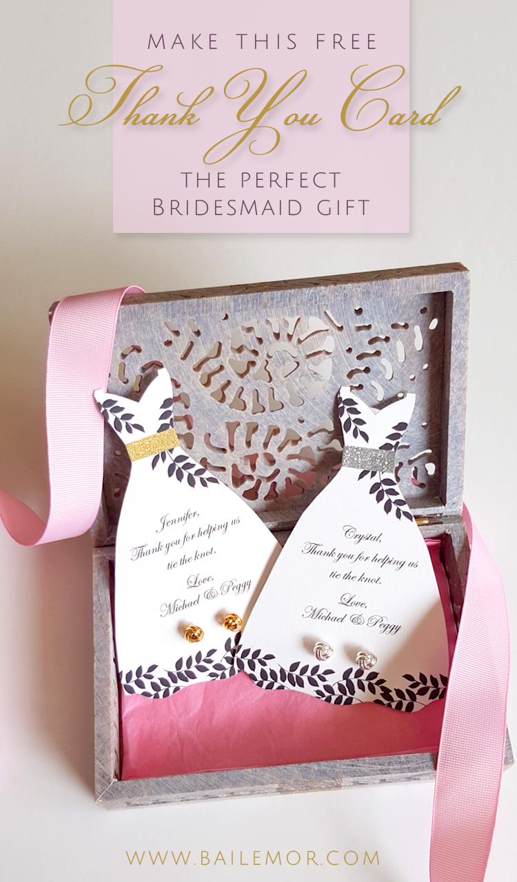 Bridesmaid Thank You Card Template - Free Instant Download