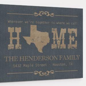 texas address sign