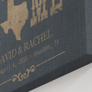 Texas Home State Canvas Print