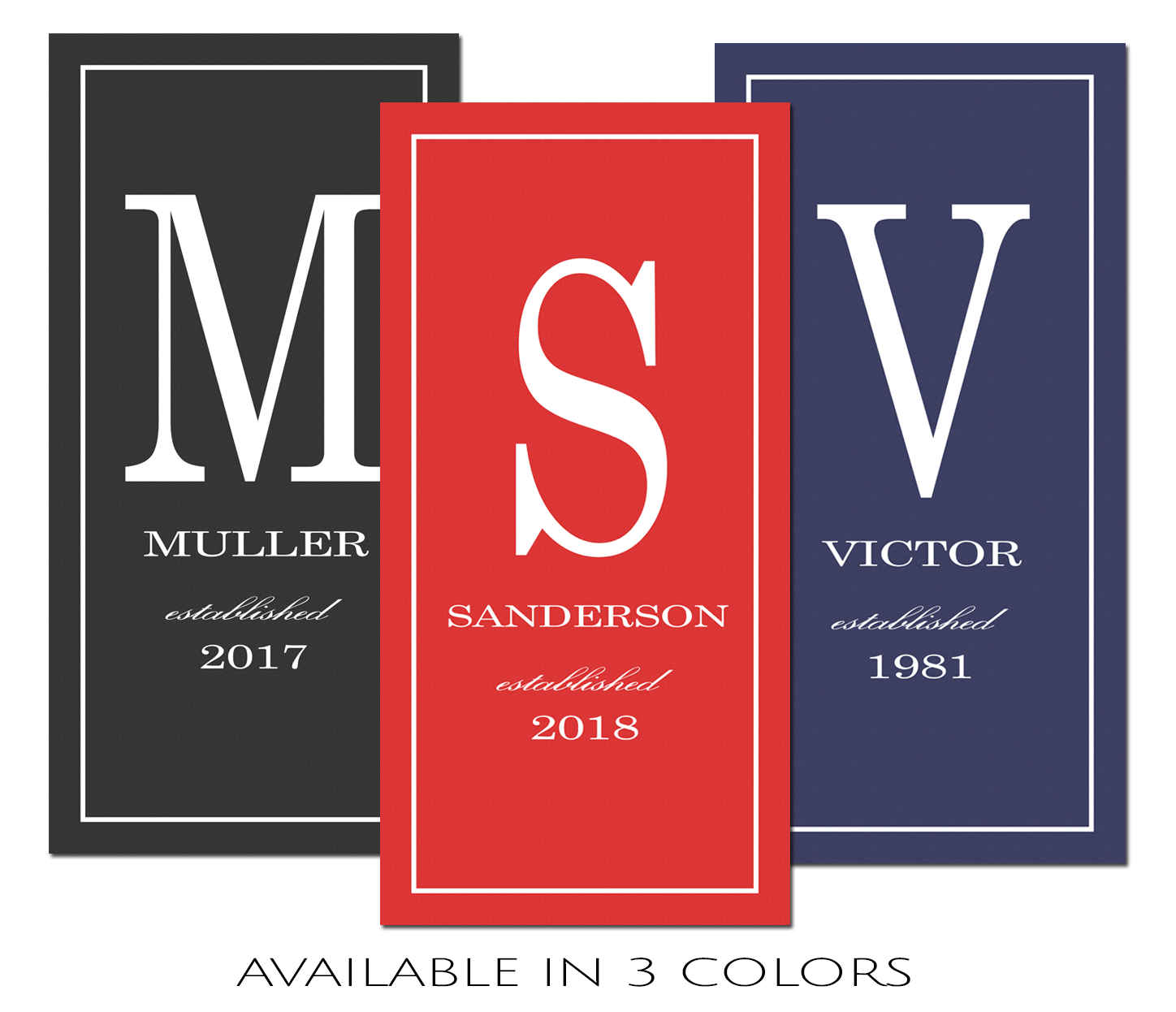 Last Name Sign, Family Monogrammed Canvas Print