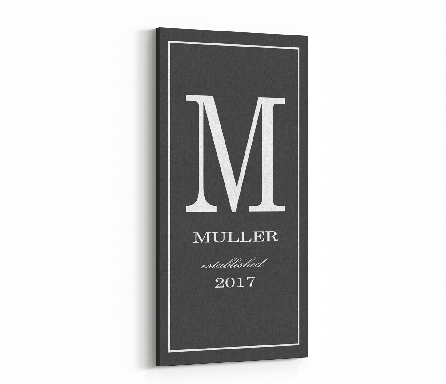 Last Name Sign, Canvas Print