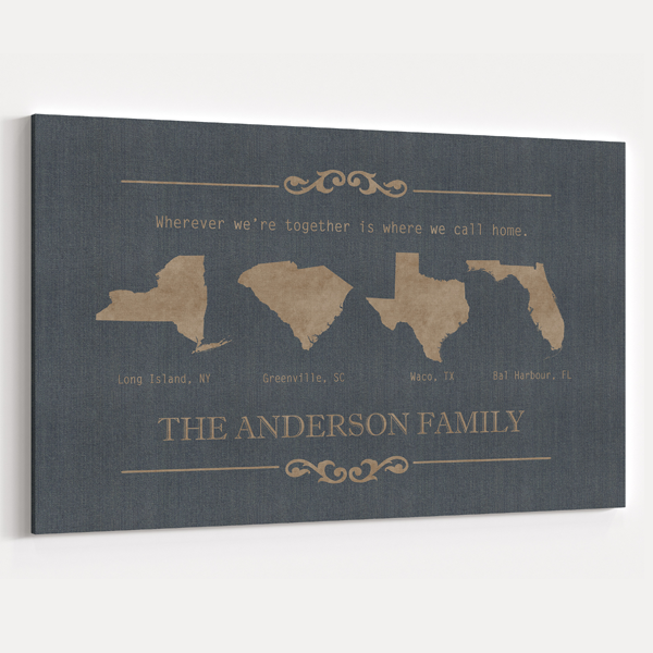 four state family name sign
