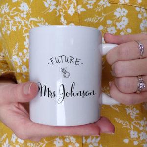 personalized future mrs mug