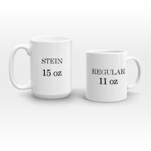 two sizes coffee mugs