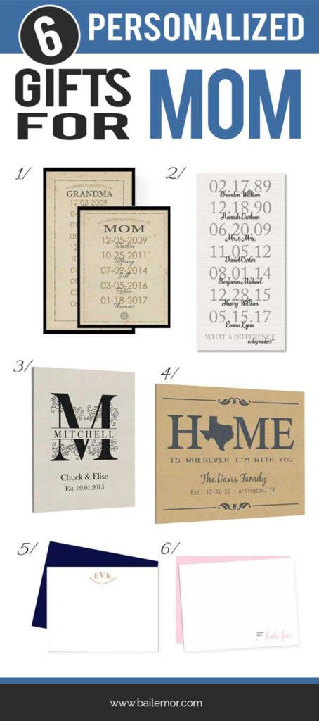 personalized gifts for mom gift ideas