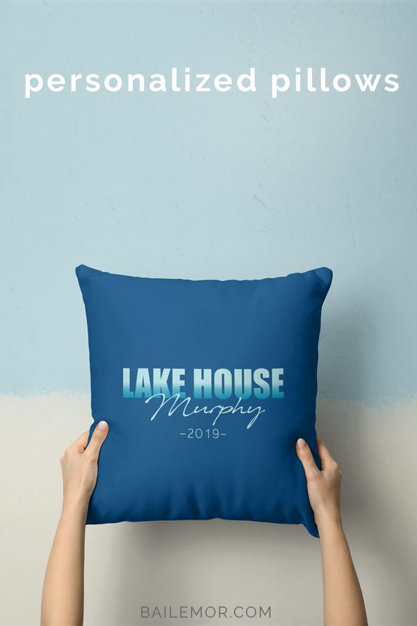 Lake House Pillow Personalized Beach Decor