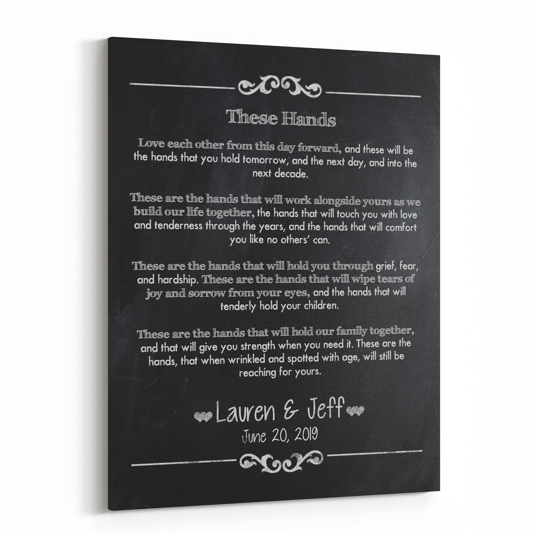Personalized Wedding Vow Keepsake Handfasting Prayer Canvas Wall Art Bailemor