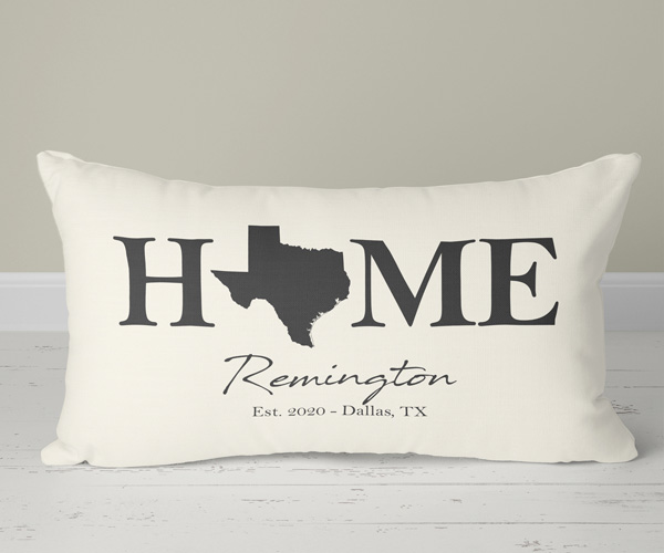 New Home Gift Client New Home Gift From Realtor Address Pillow New Home Gift Personalized Address Decor New Address Announcement